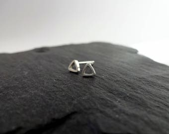Minimal Earrings, Tiny Stud Earrings, Triangle Earrings, Geometric Earrings, Modern Earrings,  Silver Earrings,  Gift for Women