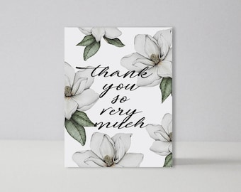 Thank You So Much  | A2 Notecard