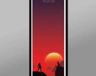 Force Inspired - The Last Jedi - Sunset Series Long Collection - 12 x 36 Inches - Print 333 - Home Decor