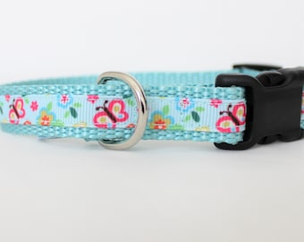 """Butterfly 5/8"""" Small Dog Collar"""