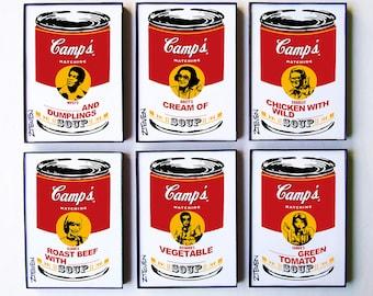Match Game 1970s Full Panel Pop Art Soup, set of 6 by Zteven