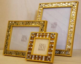 Handmade mosaic photo frame album
