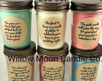wedding or bridal shower candle poem gift set 1st year marrige poem set promotion