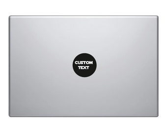 2x Macbook Decals Custom Personalised Text | Removable Vinyl Laptop/iPad Sticker | 80+ Fonts To Choose From Christmas Gift
