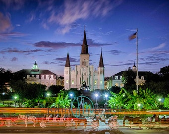 St. Louis Cathedral, New Orleans Louisiana, Print, New Orleans Photograph, French Quarter Art, Fine Art Print