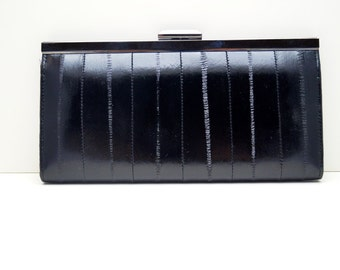 "Leather Ladies wallet, womans purse, womans wallet ""Linnea"" in black, genuine leather, wallet, purse, portemonnaie, handmade, leather"