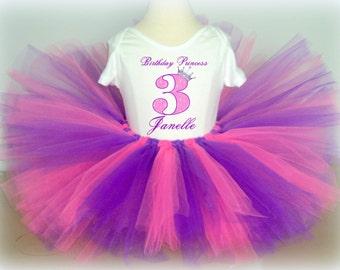 Pink and Purple Birthday Princess Tutu Outfit