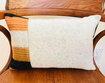 Wool Lumbar Pillow With Insert