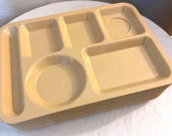Vintage 1960s Texas Ware School Cafeteria  Stackable Lunch Trays