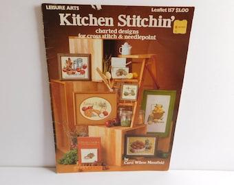 Kitchen Stitchin' Counted Cross Stitch Pattern Leisure Arts Carol Wilson Mansfield