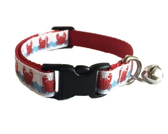 Crabby Nautical Cat Collar Breakaway