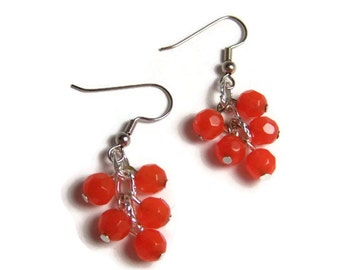 CLEARANCE...Orange Quartz Earrings
