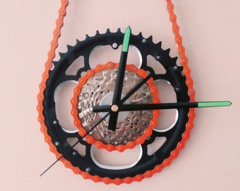 Steampunk Bicycle Gear Wall Clock Bike Gear Quartz Wall Clock Industrial Art Bicycle Parts Wall Clock