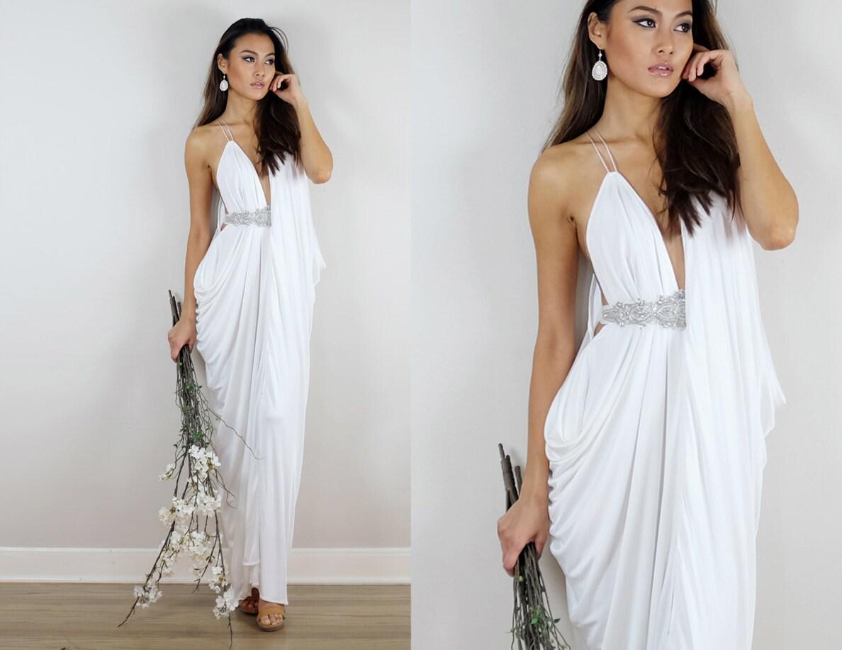 Ivory Brautkleid griechische Hochzeit Kleid Kleid Ivory