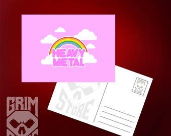 Postcard Cute Heavy Metal