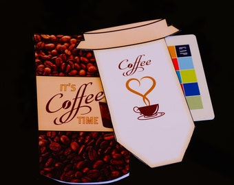 Gift Card Money Envelope, Coffee Gift Card holder, Tumbler Money holder, Gift Card Envelope,Coffee lovers envelope.  Set of 10