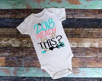 2018 Ready For All This Kids New Years Shirt,Girls New Years Shirt,New Year Party Shirt,Ring in the New Year,Happy New Year