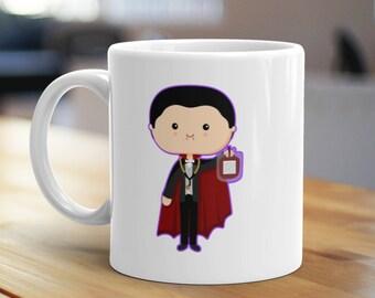 Dr. Acula Mug, Unique Coffee Mug, Illustrated Mug, Cute Mug, Gifts for Him, Gifts for Her, Vampire Mug, Movie Mug, Funny Mug, Pun Mug