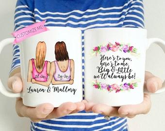 Big Little Sorority Gift | Big Lil Sorority Mug | Sorority Reveal | Sorority Gift | Little Sis gift | Gift for Big | Sorority Sister Gift