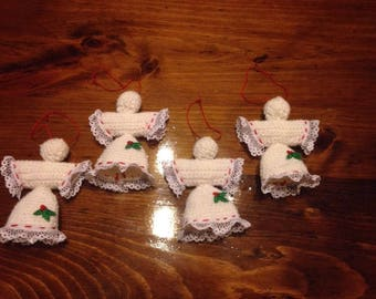 Crocheted Angel Ornaments set of 4