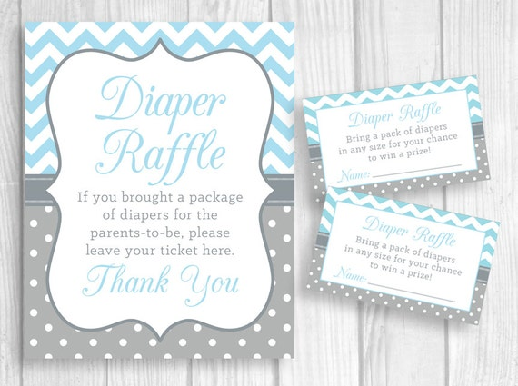 Baby Shower Diaper Raffle Sign PRINTABLE Diaper Raffle | Etsy  |Sign For Diaper Baby