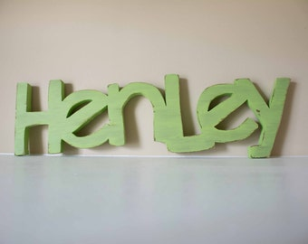 Wooden Letters for Nursery, Baby Name Sign, Nursery Decor, Name Display