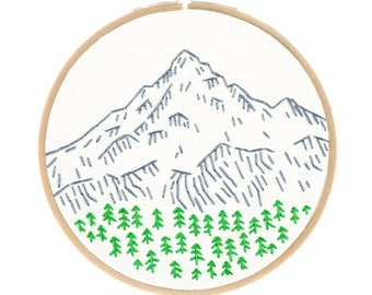 PORTLAND'S MOUNT HOOD embroidery kit - hand embroidery kit, embroidery pattern, nature art, travel souvenir by StudioMME