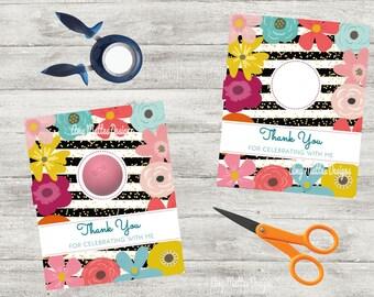 EOS Baby Shower Favor Teacher Appreciation Gift Printable Lip Balm Holder lip balm party favor bridal shower favor cards Instant download