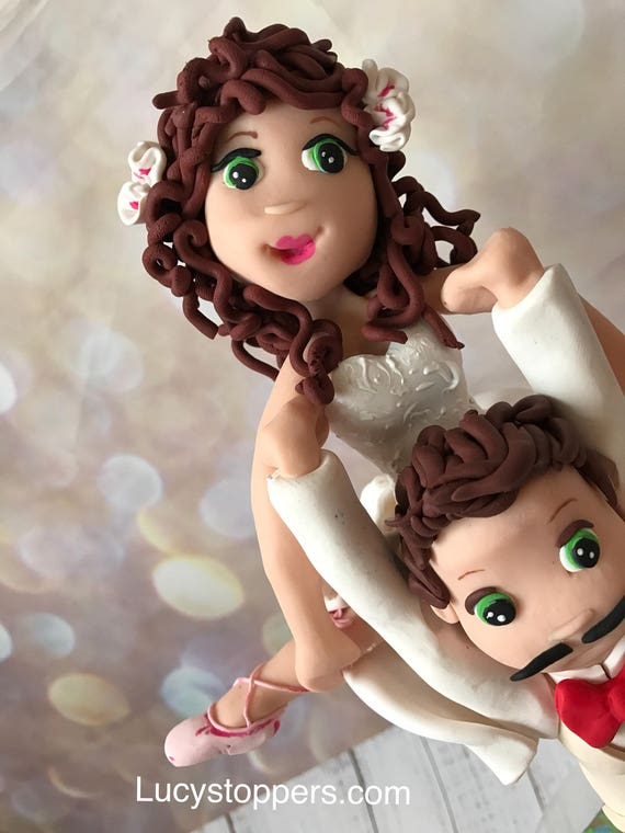 Wedding cake Topper with dance/ballet pose - Fully Personalised a lovely keepsake - Bride and Groom/Same Sex/Wedding couple