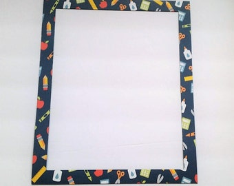 School Refrigerator Photo Frame Magnet, 8x10 Picture.  Picture Frame Magnet.  Great for those Little Artist Drawings