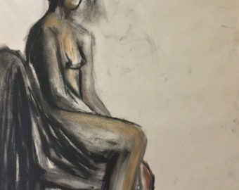 Figure in Covered chair