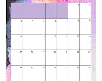 June 2018 Calendar Printable A4, A5, A6