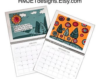 2018 Calendar featuring Original Artwork & Writings
