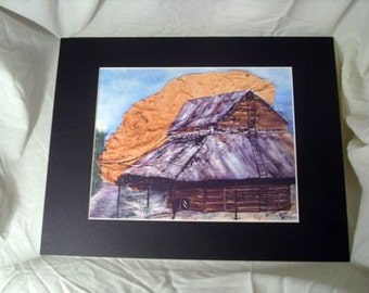 Old Wooden Barn Print