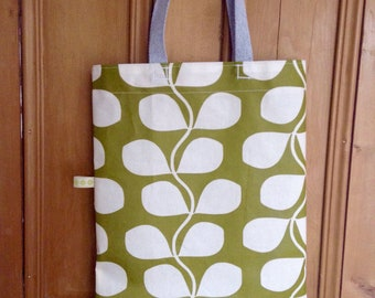 Oilcloth fabric tote bag
