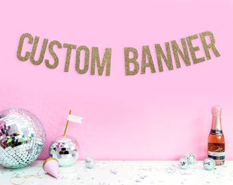 Custom Wedding Banner - Personalised Banner - Bridal shower decoration - Birthday party banner - Bachelorette banner - Hen party banner
