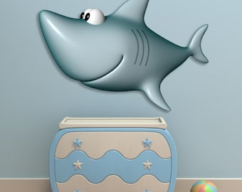 Wall decals shark A132 - Stickers requin A132