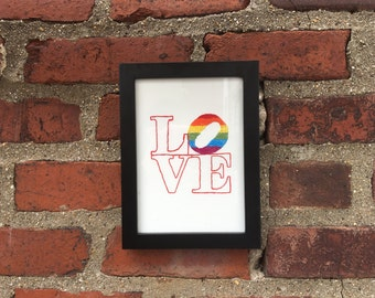 Love is Love Hand Embroidered Art