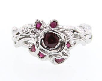 Ruby Rose Trellis Ring in Sterling Silver