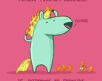 Francois, Croissants, Hair Advice Greeting Card