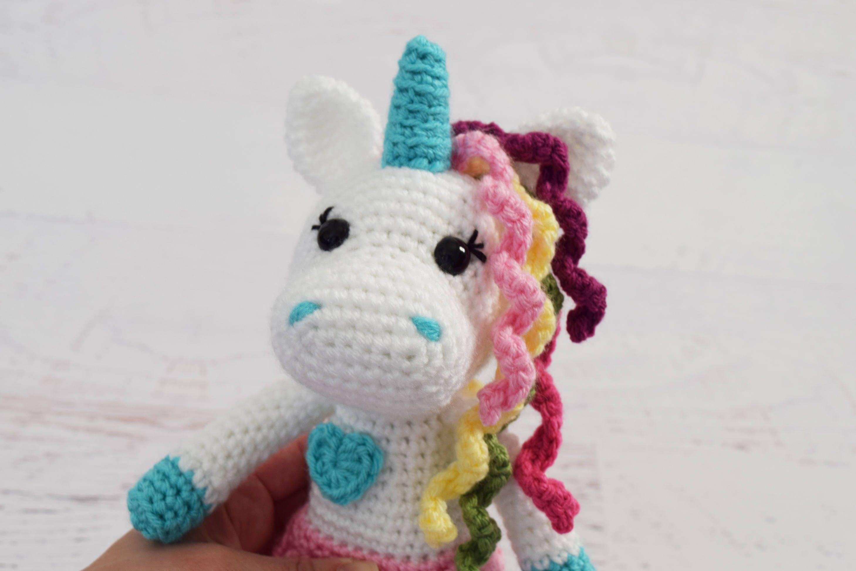 Free Amigurumi Unicorn Pattern : Crochet pattern unicorn doll amigurumi toy crochet doll