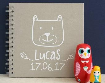 Personalised Woodland Baby Memory Book