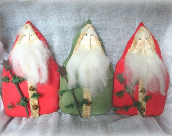 Belsnickel Santa | Santa Bowl fillers | Prim Belsnickel Santa | Holiday Ornaments | German Santa | Holiday Prim \ Rustic Christmas