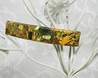 Barrette, Klimt, art, made in France, clip, Pin, Klimt, art nouveau, made in France, pinches hair