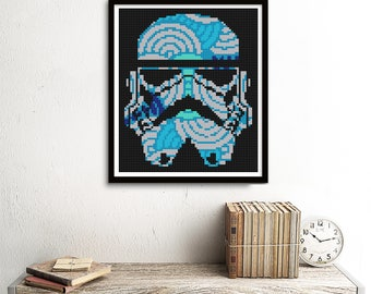 Storm Trooper Cross Stitch Star Wars Pattern