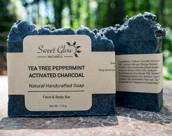 Ultimate Cleansing Activated Charcoal Tea Tree Peppermint Face & Body Bar