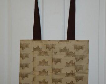 Brown Downton Abbey Tote Bag