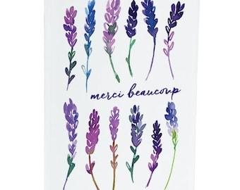 Merci beaucoup - Thankyou - Lavender - A6 Greeting Card