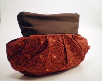 Clutch in Brown and Burgundy