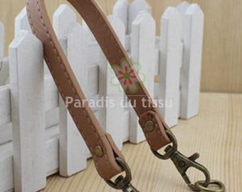 1 x handle for bag camel yellow leather imitation D30
